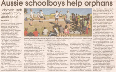 Aussie schoolboys help orphans