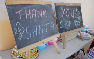 Santa's Shoe Boxes ~ Kenton on Sea 2017