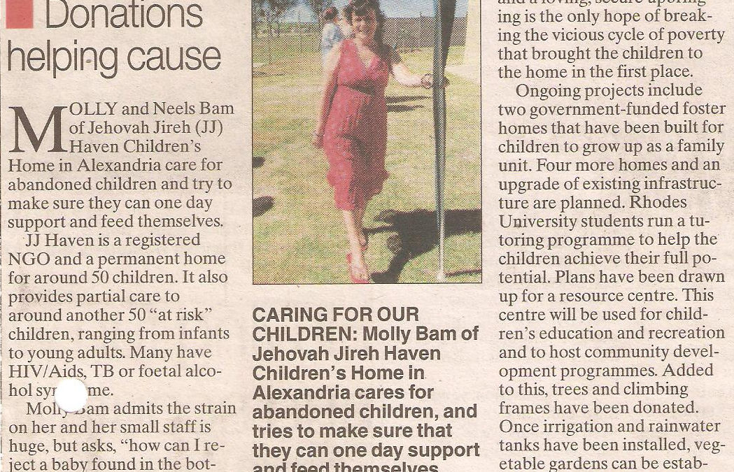 JJ Haven creating hope, future for children in need
