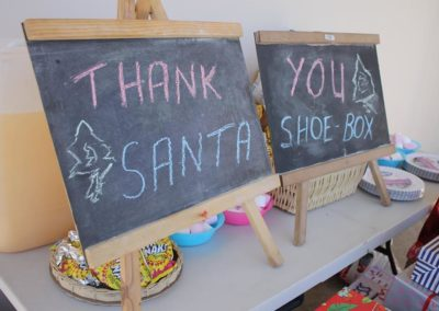 Santa's Shoe Boxes ~ Kenton on Sea 2017